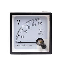 High Quality Analog Volt Panel Meter AC 250V New