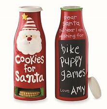 Mud Pie Christmas Kids' Gifts Cookies For Santa Ceramic Milk Bottle 4355013