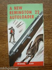 VINTAGE REMINGTON 22 BROCHURE AUTOLOADER MODEL 550