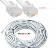 15M Meter RJ11 Broadband Cable ADSL Router Modem Telephone Phone Line Internet