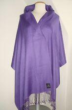 Kaschmir Stola PASHMINA 190x70 cm. dünn Cashmere Seide Silk Schal Violett Schal