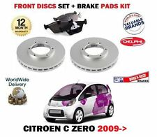FOR CITROEN C ZERO ELECTRIC 16KWH 2009-  FRONT BRAKE DISCS SET AND DISC PADS KIT