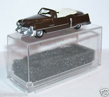 MICRO PRALINE HO 1/87 CADILLAC 54 CADDY CABRIOLET OUVERT MARRON FONCE IN BOX