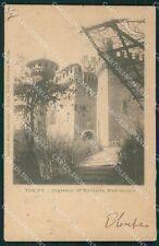 Torino Città Castello Medioevale PIEGHE cartolina XB2644