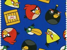 1 yard_David Textiles_quilt cotton_angry bird_blue_green_red_black_TNT_apparel