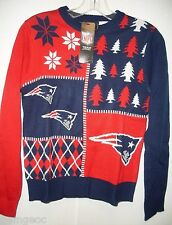 NFL NWT BUSY BLOCK UGLY SWEATER YOUTH - NEW ENGLAND PATRIOTS - YOUTH MEDIUM