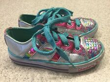 Girls Sz 11 Skechers Sporty Shorty Light Up Shoes