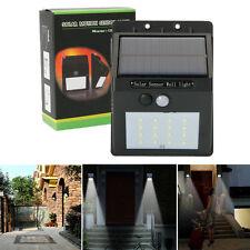 Solar Power 16 LEDs PIR Motion Sensor Wall Light Garden Lamp Outdoor Waterproof