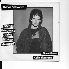 """DAVE STEWART COLIN BLUNSTONE RARE 7"""" WHAT BECOMES OF THE BROKEN HEARTED"""