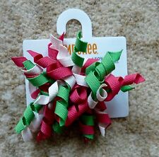 Gymboree Girls Hair Clips x 2 (Pink, Green and White), Brand New - G241