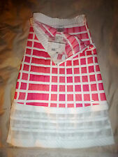 Chanel Pink White Knit Colorblock Mesh Trim Tube Sexy Mini Dress SZ 36 NWT