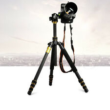 Portable Travel Pro Carbon Fiber Tripod Monopod & BallHead for DSLR Camera Q999C