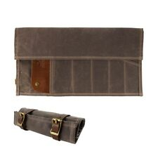 Waxed Canvas and Leather Landseer Tool Roll - Havana - Made in USA