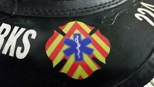 "2"" Star Of Life Chevron Maltese Firefighter Paramedic EMT EMS Decal REFLECTIVE"