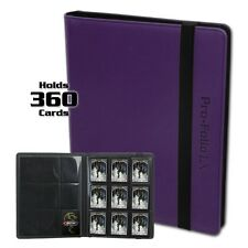 BCW Purple Pro-Folio LX Binder Album 9 Pocket Side Load holds 360 Card Storage
