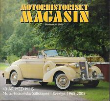 Motorhistoriskt Magasin Swedish Car Magazine #3 2005 AR MED MHS 031617nonDBE