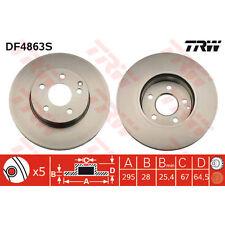Bremsscheibe, 1 Stück TRW DF4863S