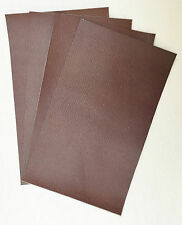 LEATHER PIECES OF COWHIDE 4 @ 25CM X 15CM BROWN 1.6 mm  THICK EMBOSSED GRAIN