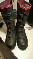 SERVUS BY HONEYWELL OVERBOOTS, MENS 9, 5 BUCKLE, BLACK RUBBER. (PREWORN NICE)