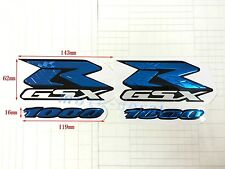 GSXR Raised 3D Emblem Suzuki GSXR1000 Chrome Blue Streak Decal Sticker Bling