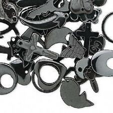 5490FY BULK Hemalyke Black Charm, Pendant, Mix Shape, 19 to 34mm, 40 Qty