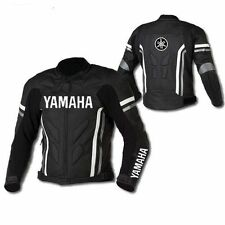 BLACK YAMAHA RACING MOTORBIKE LEATHER JACKET MOTO GP MOTORCYCLE LEATHER JACKETS