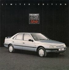 Peugeot 405 Style 1.6 Saloon Limited Edition 1990 UK Market Sales Brochure