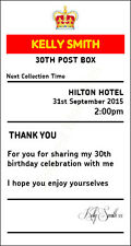 Birthday 30th sign  4' x 7.5'  royal mail insert post box Card Box