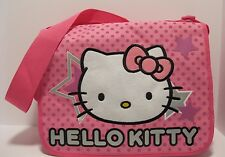 Purse Hello Kitty Pink Nylon Book Bag Tote Shoulder or Cross Body Soft NWT L116
