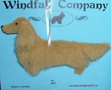 Cream Long Coat Dachshund Dog Plush Christmas Canine Ornament # 2 by WC