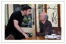 LARRY DAVID & RICKY GERVAIS CURB YOUR ENTHUSIASM AUTOGRAPH SIGNED PHOTO PRINT