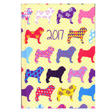 Pocket Pugs Dogs Week to View (On 2 Pages) Hardback Diary Planner 2017 - 0350