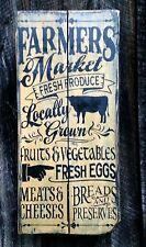 farmers market Farmhouse Primitive Rustic Country Home Decor