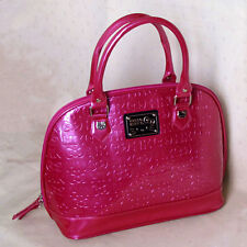 Loungefly Hello Kitty Embossed Handbag Pink Dome Purse Satchel Sanrio HK Bow