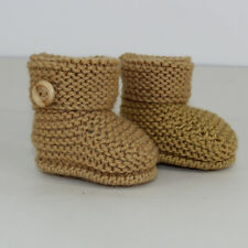 KNITTING INSTRUCTIONS-BABY SIMPLE CUFF BOOTIES KNITTING PATTERN