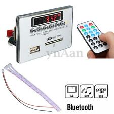 12V Bluetooth Car LED WAV/WMA/MP3 Decoder Board FM Radio Audio AUX USB SD Remote