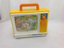 VINTAGE FISHER-PRICE 1987 TV #2204-STILL WORKS AND PLAYS-DIVISION OF QUAKER OAT*