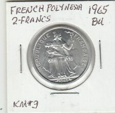 LAM(Y) Coin - French Polynesia - 1965 - BU - G/F Two Francs