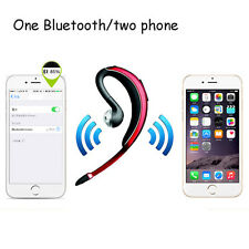 100% NEW BLACK/RED WAVE+ WIRELESS BLUETOOTH HANDSFREE HEADSET IPHONE SAMSUNG