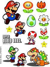 A5 Size Super Mario Skateboard Luggage Laptop Bike Phone Vinyl Stickers S0001