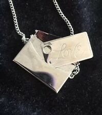 Vintage Silver Purse Necklace w/ Love Envelope Locket