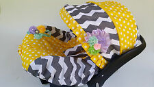 baby infant car seat cover canopy cover cotton fit most infant seat grey Yellow