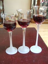 PartyLite Set of 3 tall glass tealight candle holder(Reduced