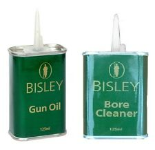 Bisley Gun Oil & Bore Cleaner twin pack - 2x125ml tins - clean and maintain guns