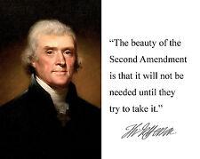 """Thomas Jefferson """" the beauty"""" Autograph Quote 8 x 10 Photo Picture #hm1"""