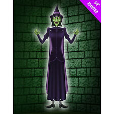 "Jumbo 60"" Jointed Wicked Witch Wall Hanging Halloween Party Decoration"