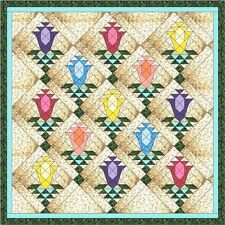 Quilt Kit/Lily Blossom Trellis/Pre-cut Fabric Ready To Sew/Gorgeous!!!