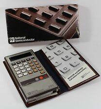 NSC National Semiconductor NS200 Calculator With Case Box NOS