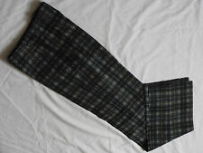 NEW Mens PAUL SMITH Green Blue Checked Wool Trousers UK 32 R SAMPLE RARE