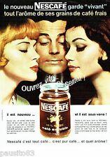 PUBLICITE ADVERTISING 106  1962  le café Soluble Nescafé sous verre